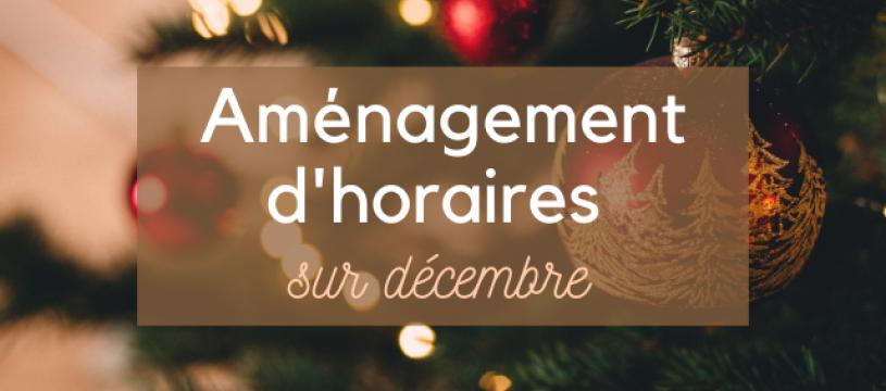 Votre CAVAVIN Pont du Château aménage ses horaires sur le mois de décembre !